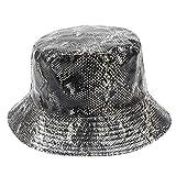 Finebo Fischerhut Doppelseitige Schlangenhaut für Männer und Frauen mit Angelkappe Sonnenschirm...