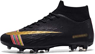 RLJWI Soccer Shoes Men Boys Soccer Shoes Football Boots High Ankle Kids Cleats