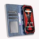 MingMing Lederhülle für Kyocera Torque 5G Hülle, Flip Hülle Schutzhülle Handy mit Kartenfach Stand & Magnet Funktion als Brieftasche, Tasche Cover Etui Handyhülle für Kyocera Torque 5G, Blau