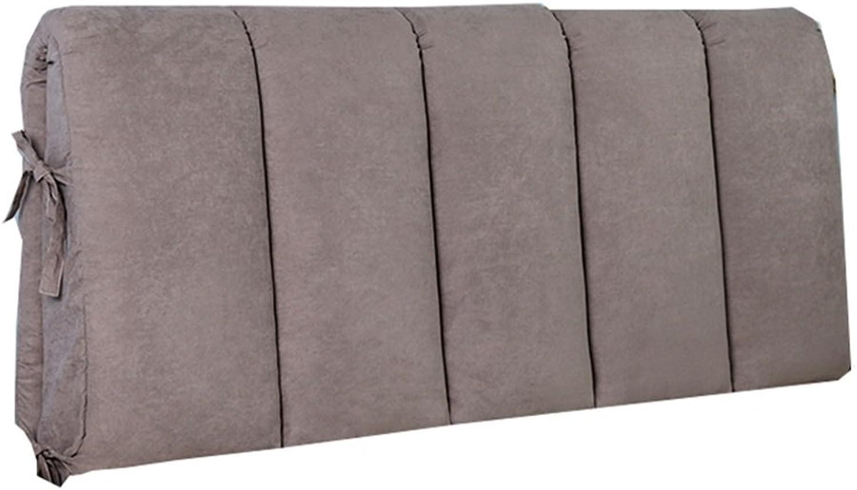 Yxsd Double Oreiller de tête de lit de Chevet Coussin pour Le lit de Caisse Molle de Dossier Grand prougeégeant Le Cou et Le Dos lisant l'oreiller (Taille   150×50cm)