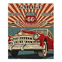 Vintage Garage Retro Poster 木製ジグソーパズル、大人のためのパズルティーンエイジャー子供ジグソーパズルゲームおもちゃ誕生日プレゼント200/75/120ピース