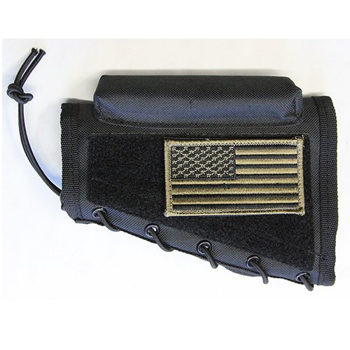 M1SURPLUS Black Color Rifle Cheek Rest + USA Flag Patch Fits...
