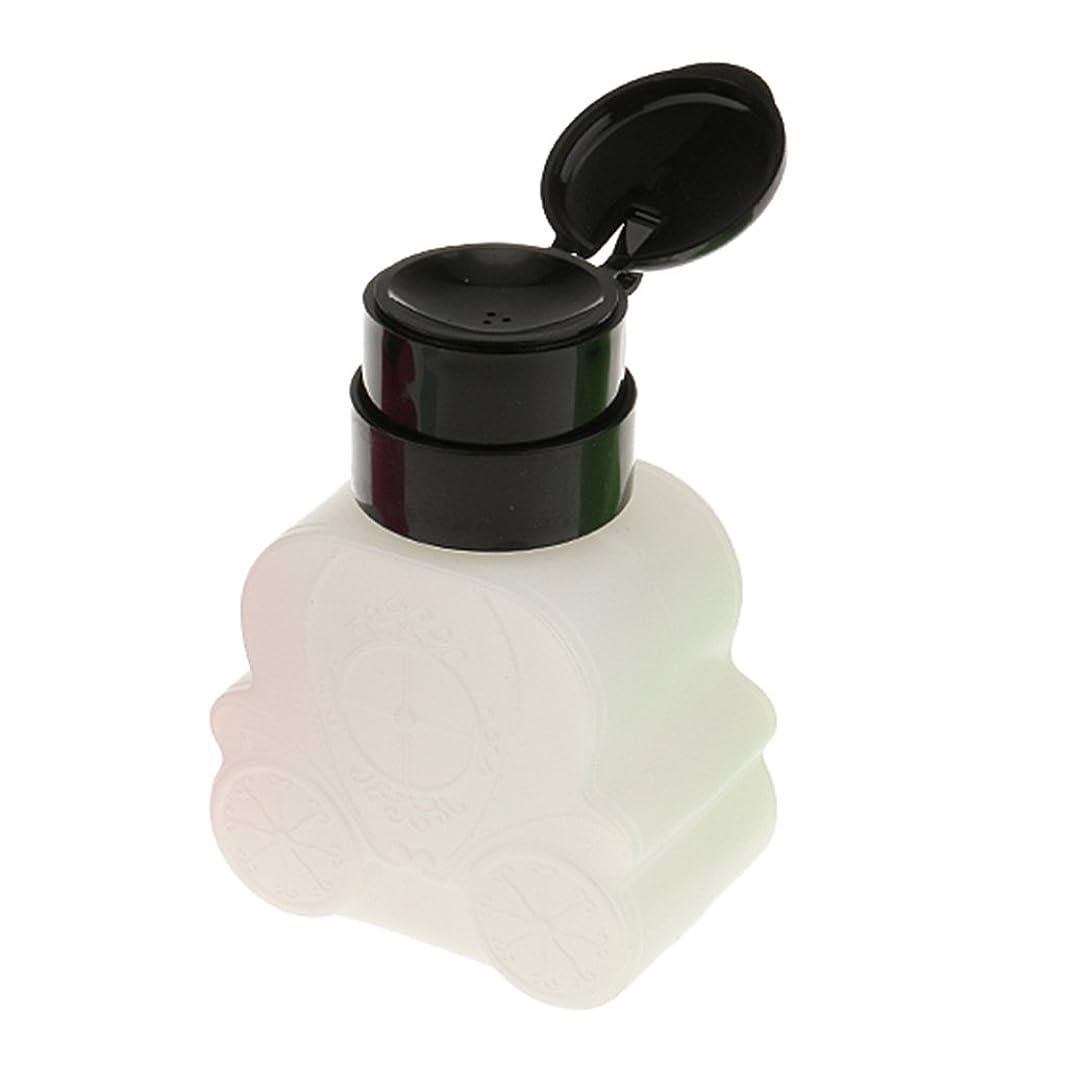 グレーインスタンス通知するKesoto ネイルクリーナーボトル ポンプ 車型 防揮発 耐久 ネイル清潔 便利 240ml