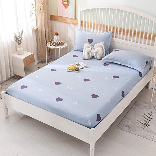 HPPSLT Protector de colchón - cubrecolchón Transpirable Sábana de Cama Individual 100% algodón Full cover-16_120 * 200cm