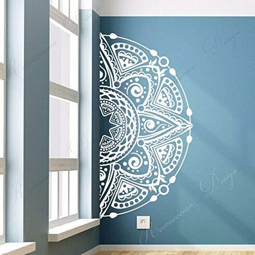 Half Mandala Flower Magic Matrix Wall Sticker Vinilo Decoración del hogar Sala de Estar Dormitorio Muebles Calcomanía Mural extraíble