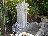 Brunnenstele aus Kalkstein 100 cm hoch Brunnen Steintrog - Granittrog Sandsteintrog