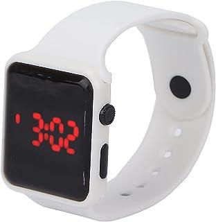 Zegarek cyfrowy, lekki zegarek elektroniczny Praktyczny świecący design na prezenty na akcesoria(white)