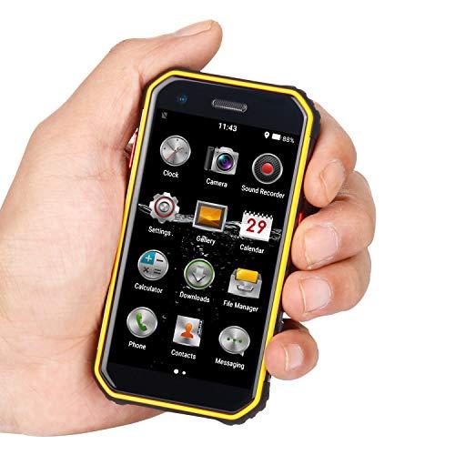 Mini Smartphone 3.0 Telefono cellulare impermeabile 4G SBLOCCATO Cellulare DUAL SIM GPS NFC 3 + 32GB ROM (giallo)