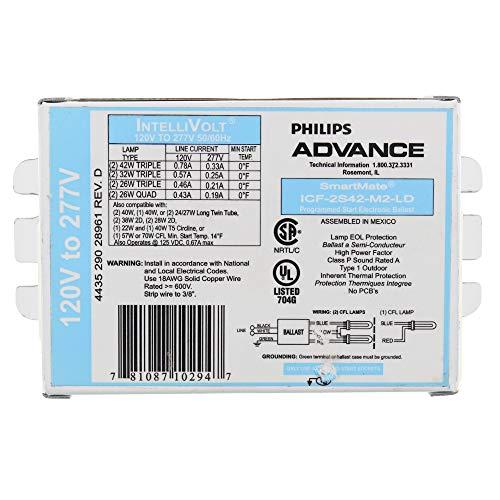 Philips Advance ICF-2S42-M2-LD SmartMate Advance IntelliVolt Ballast