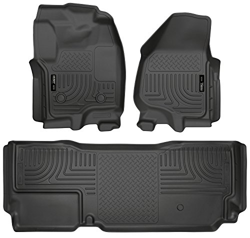 Husky Liners Fits 2012-16 Ford F-250/F-350 SuperCab Weatherbeater Front & 2nd Seat Floor Mats (Footwell Coverage)