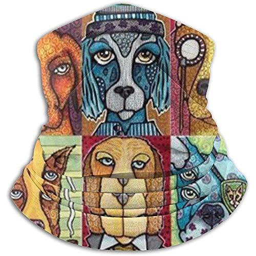 Scaldacollo in pile - Guaina per collo con motivo a cane, Bandana, Fascia per capelli, Berretto