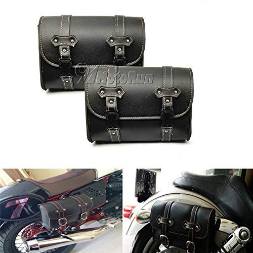 REFIT 2X Motorcycle Saddlebag PU Leather for Honda VT Shadow Ace Classic 750 1100 VTX1300/Yamaha V-Star XVS 650 1100 Custom Silverado