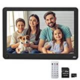 Digital Photo Frame, Videosky 10.1 inch Motion Sensor Digital Picture Frame with 1920x1080 IPS Screen Support Breakpoint Play, Music, 1080P Video, Auto Power On/Off, SD Card and USB