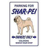 Shar Pei Owners Only 注意看板メタル安全標識注意マー表示パネル金属板のブリキ看板情報サイントイレ公共場所駐車ペット誕生日新年クリスマスパーティーギフト