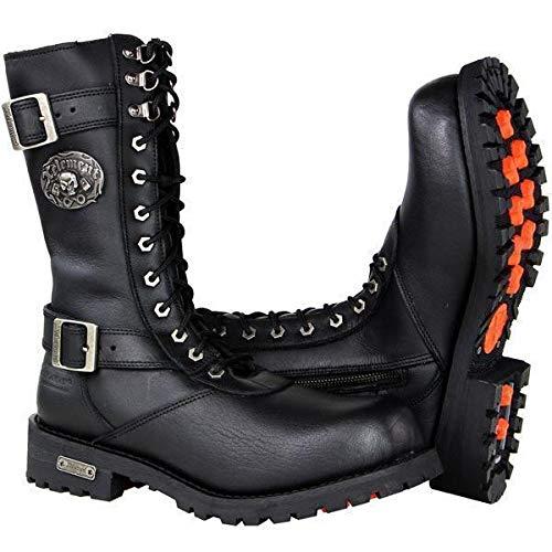 Xelement X19409 'Fury' Men's Black Performance Leather Boots - 9.5