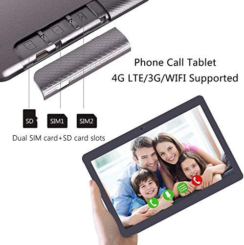 Tablet 10 Zoll 4G LTE - TOSCIDO M863 Tablets Android 10.0,Tablet PC 4 GB/RAM,64 GB/ROM ,Otca Core,Dual SIM,WiFi, Tastatur |Wireless Maus|M863 Tablet Cover und Mehr Enthalten - Grau