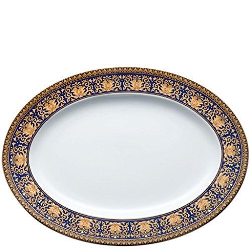 Versace by Rosenthal Medusa Blue Platter, 13 1/2 pulgadas