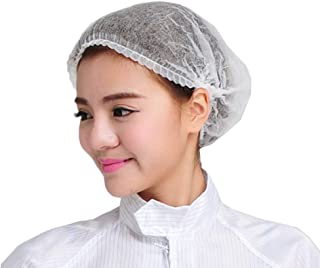 100Pcs Disposable Shower Caps Disposable Non-Woven Anti Dust Caps for Spa Home Use Hotel and Hair Salon, White