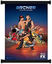 Archer (TV) Show Fabric Wall Scroll Poster (16