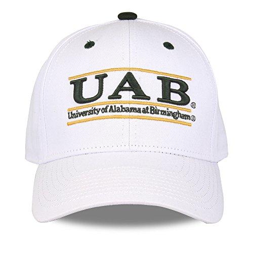 NCAA Alabama Birmingham Blazers Unisex NCAA The Game bar Design Hat,, White, Adjustable
