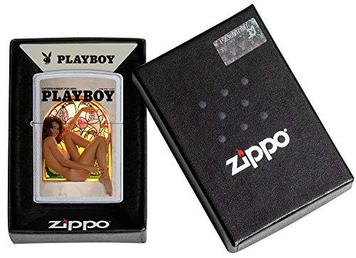 Zippo Playboy Cover June 1975 Satin Chrome Pocket Lighter, One Size, Model Number: 205-CI010711