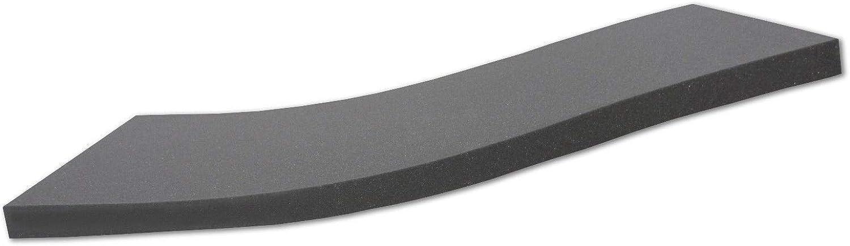 Alanpur schwarz  Orthopdische Kaltschaummatratze Akustikschaumstoff  H2  (Auswahl) Ohne Bezug  Made in Germany  (180 x 200 x 15 cm)