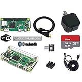 Raspberry Pi Zero WH スターターセット (10.5W小型電源, 高速型32GB MicroSD, USBスイッチケーブル, ケース, HDMIケーブル, MicroUSB変換付き)