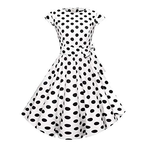 Vrouwen Zomer Bloemen Jurk 50S Vintage Casual Elegante Print O Hals Party Werk Kantoor Jurk