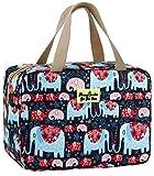 para mujer, bolsa de aseo grande, azul marino y rosa, a prueba de fugas, neceser con diseño floral para chicas elefante 11.8L×5.1W×7.8H