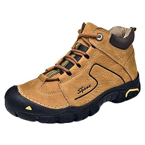 Botines cálidos para hombre Otoño Invierno Zapatos deportivos al aire libre con cordones High Top Durable Uso diario Hombres Botas casuales para caminar