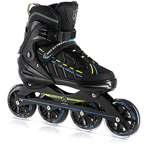 Nils Extreme NA1128 XL (43-45) - Patines en línea, patines en línea, patines en línea, para niños, jóvenes y adultos, rodamientos ABEC7, ruedas de goma, acolchado interior de espuma