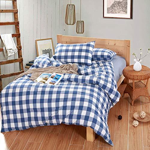 Teyun. Startseite Spun Bettdecke Cotton Vier Stücke von Bettwäsche, Farbe Multiple Choice. (Color : Blue, Size : 150CM)