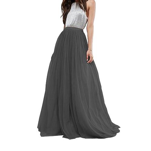 f533e6384c CoutureBridal Women's Bridal Prom Tulle Long Skirt Party Floor Length  Customizable