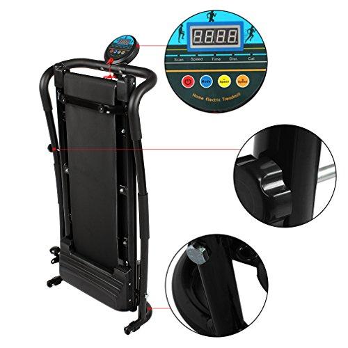 Gomyhom 350W Mini Household Multifunctional Electric Treadmill Running Machine HSM-T02 Training Fitness Sports Equipments Black