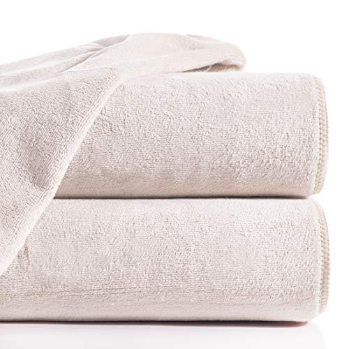 Eurofirany Ręcznik z mikrofibry, szybkoschnący, miękki, prosty zestaw, 6 sztuk, Öko-Tex, puder, 30 x 30 cm