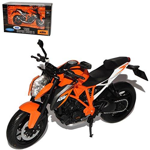 Welly K-T-M 1290 Super Duke R Orange Weiss 1/10 Modell Motorrad