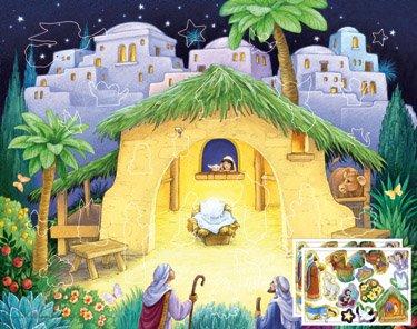 Kids Nativity Sticker Advent Calendar