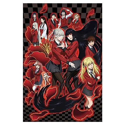 Ailin Online Kakegurui Poster Silk Anime Art Prints for Home Wall Decor Size S/M/L/XL(XL Style 01)