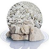 Schicker Mineral Kalksplitt Yellow Sun 25 kg Verschiedene Größen ideal zur Gartengestaltung, Beiger Naturstein Splitt (Kalk Splitt, 32-56 mm)