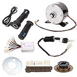 FOLOSAFENAR Kit de Motor de Cepillo, 9pcs / Set 250W 24V Juego de Motor de Cepillo, Kit de Alta Velocidad de conversión de Bicicleta, Acelerador de Bicicleta, para Bicicleta eléctrica DIY