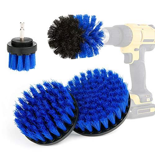 Czemo 4 Pieces Cepillo de Taladro Eléctrico,Drill Brush,Cepillos Para el Taladro Multifuncional...