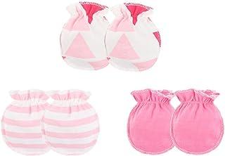 Beaums 3 pares Los bebés bebé guantes de algodón suave