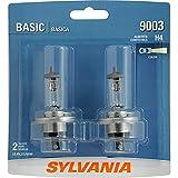 SYLVANIA - 9003 Basic - Halogen Bulb for Headlight, Fog, and Daytime Running Lights (Contains 2 Bulb)