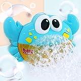 yinuiousory Blue Crab Bubble Machine, Automatisches Hersteller Gebläse Badespielzeug, Baby...
