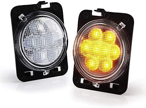 Luces LED laterales transparentes para Wrangler 2007-2018, luces de estacionamiento, luces de estacionamiento, luz ámbar