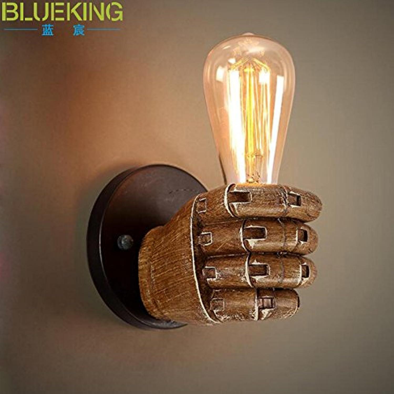 Modern LED Wandleuchte Kreative Gangstiegenstangenkunst-Wandlampe der Harz-WandleuchteVintage Retro Café Loft Bar Flurlampe, Wandlampe Upaus Aluminium für Flur Korridor Wohnzimmer Schlafzimmer.