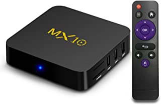 MX10 Smart TV Box Android 9.0 OS Rockchip RK3328 DDR3 de 4 GB de RAM 32 GB ROM 4K USB 3.0 HDR H.265 WiFi LAN Full HD 4K Smart Media Player