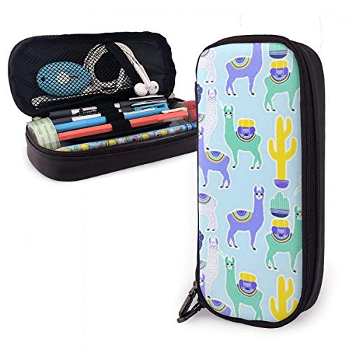 Alpaca Pencil Case Big Capacity Students Stationery Pouch Pe