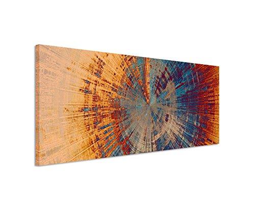 Paul Sinus Art Panoramabild 150x50cm Vintage Gemälde eines Baum Querschnitts auf Leinwand Exklusives Wandbild Moderne Fotografie für ihre Wand in vielen Größen