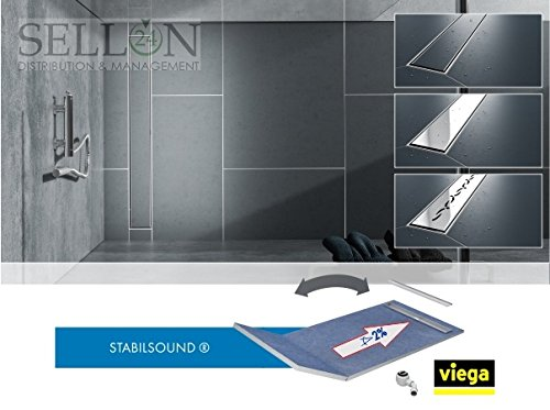 Duschboard 130+50 x 80 Duschelement Gefälleplatte zu befliesen befliesbar Duschrinne Stabilsound®Base